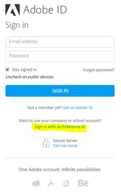 Enterprise ID, sign in, and account help