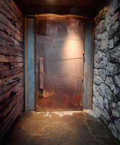 Loft Interior Design, Loft Design, Tree House Designs, Wooden Front Doors, Pivot Doors, Minimal Home, Container Design, Diy Outdoor Furniture, Industrial Interiors