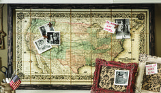 Framed US Map Magnetic Board — Painted Fox
