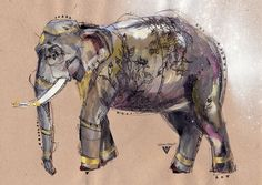 indian elephant tattoos - Google Search