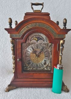 Ends Shortly & Low Bids On eBay This Warmink Mantel Clock Dutch Green Band 8 Day Moon Dial Silent Mode http://www.ebay.co.uk/itm/Warmink-Mantel-Shelf-Clock-Dutch-Green-Band-Nut-Wood-8-Day-Moon-Dial-Silent-Mode-/371787397410?roken=cUgayN …