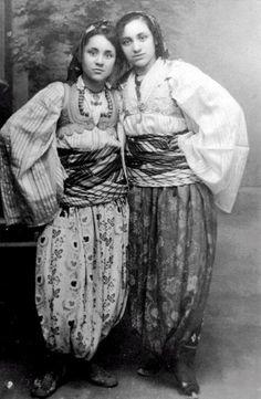 MOTHER TERESA 1910-1997 as a teen in native Albanian clothing.