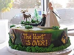 Camouflage Grooms Cake The Hunt Is Over Camo Wedding