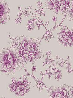 DecoratorsBest - Detail1 - CD 1814-5101 - ARABESQUE GRAVURE WALLPAPER - VIOLINE TAUPE - Wallpaper - DecoratorsBest