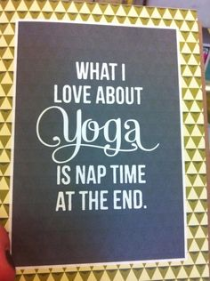Yoga funny...Oh yes. Nap-aste <3
