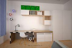 www.artefaktura.pl projektowanie wnętrz Kraków, architekt wnętrz  Projekt pokoju 6 letniego kibica piłki nożnej   #pokojchlopca #pilkanozna #ikea #boy #room #whiteroom #beautifulroom #kidsroom