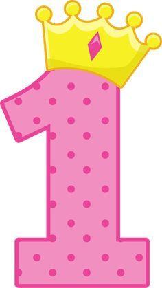 Resultado de imagen para numero uno para cumpleaños 1st Birthday Girls, Birthday Wishes, Happy Birthday, Hello Kitty Birthday, Birthday Numbers, Alphabet And Numbers, 1st Birthdays, Princess Party, Baby Cards