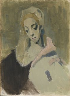 """Finnish artist Helene Schjerfbeck """"My Worldly Madonna,"""" Helene Schjerfbeck, Helsinki, Art Eras, Art Society, Canadian Art, Illustration Sketches, Renoir, Famous Artists, Figure Painting"""