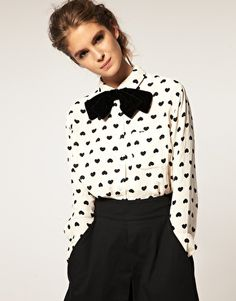 Black and White, print and bow tie!