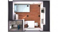 Ideas que mejoran tu vida Studio Apartment Floor Plans, Studio Floor Plans, Hotel Floor Plan, Apartment Plans, Small Apartment Layout, Studio Apartment Layout, Apartment Design, Sims House Plans, Small House Plans