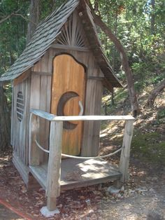 outhouse on chocolate beach