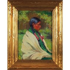 Artwork by Joseph Henry Sharp, Big Eagle, Taos, Made of oil on canvas kp