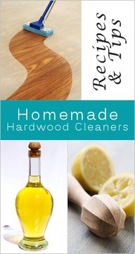 Homemade Hardwood Floor Cleaner Recipes & Tips -- also scratch repair tip! Household Cleaning Tips, Homemade Cleaning Products, Cleaning Recipes, Natural Cleaning Products, Cleaning Hacks, Household Products, Household Cleaners, Cleaning Solutions, Cleaning Supplies
