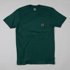 Flatspot - HUF Big Crest Pocket T-shirt Forest