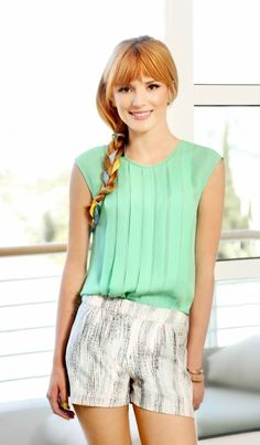 Bella Thorne i love her she is nice and her and Zendaya were on Shake it up i love that show i just wish it didn't end
