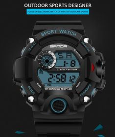 a8cc8188cab Sports Watches S-SHOCK Military Watch. Relógios MasculinosRelogio  DigitalRelógios ...
