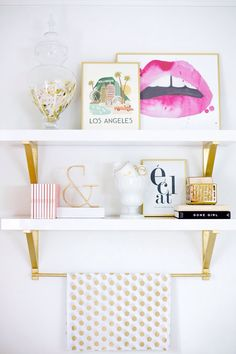 How to enhance your workspace shelves with a few paints & accessories : MartaBarcelonaStyle's Blog