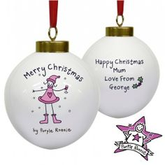 Personalised Purple Ronnie Christmas Bauble - For Her  from Personalised Gifts Shop - ONLY £10.99