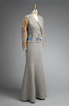 "Elsa Schiaparelli, Jean Cocteau, ""Cocteau"" Evening Jacket, Fall 1937, embroidered by House of Lesage."