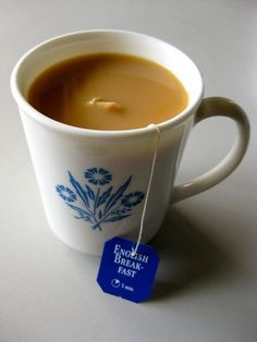 I love English tea with milk. So soothing...