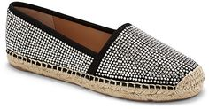 Studded style! Feminine yet outdoorsy and robust, these VC Signature Calca Rhinestone Flat Espadrilles turn a trail into a runway. Outfit idea: pair with a LBD for sexy summer fashion.