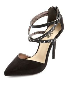 studded pointed toe pump