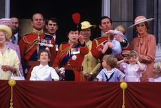 Queen Elizabeth II with Queen Elizabeth the Queen Mother Prince Michael of Kent Prince Phillip Lord Nicholas Windsor Prince Edward Princess Anne. Queen Elizabeth Ii Birthday, Queen Birthday, Charles And Diana, Prince Charles, Prince Edward, Prince Harry, Prince Andrew, Prince Michael Of Kent, Prince Phillip