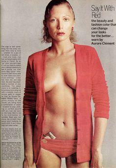 Aurore Clément by Richard Avedon -Vogue 1972