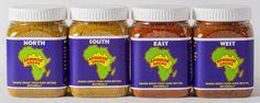 Buy the full set of Afrikoz Spices: Ras el hanout, Cape Malay curry, Berbere & Tsire 4 x 100g jars - $35