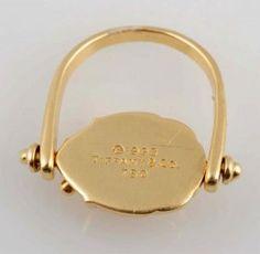 18k Tiffany & Co. Scarab Ring. : Lot 85