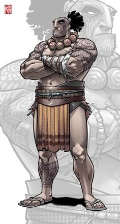 Maori Warrior by Nats Ledesma New Zealand Image, New Zealand Art, Character Concept, Character Art, Alibata, Tribal Images, Maori People, Polynesian Art, Tribal Warrior