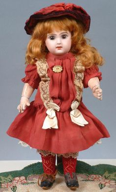 """Size 3 Tete Jumeau Bebe Closed Mouth 12.5"""" All Antique and STUNNING"""
