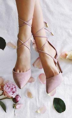 Lulus Dusty Rose Lace Heels // Follow us on Instagram @thebohemianwedding #bohowedding #wedding #shoes
