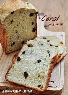 Carol 自在生活 : 湯種葡萄乾麵包。麵包機