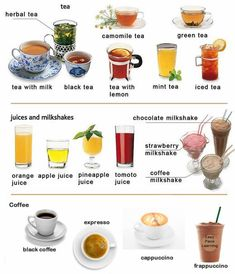 Learning hot and cold drinks