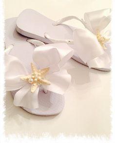 Bridal Flip Flops/Wedges.Wedding Flip Flops.Bridal by RocktheFlops