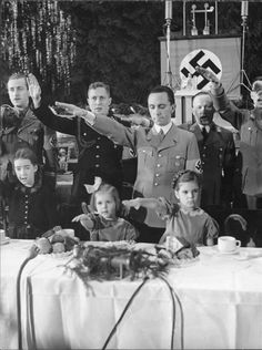 The real face behind the madness... Goebbels was not only a Master of Evil Propaganda, he was solely responsible for it's inevitable horrific success. Even Christmas was 'Nazified' 1937  SkullyBloodrider.