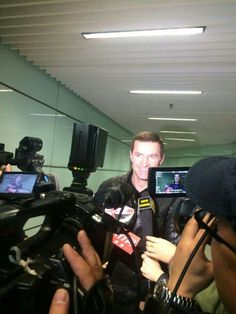 """""""@RCArmitage being interviewed at airport (photos by @OneKing2Another)"""""""