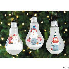 Adornos de navidad con bombillas de luz