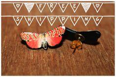 Butterfly  Polymer Clay Stud Earrings  di CreazioniKawaiiShop