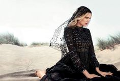 The Lily Donaldson Harper Bazaar's UK Photoshoot is Like the Wind #fashion trendhunter.com