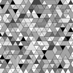 Black and White Triangle Pattern Art Print