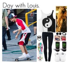 """Day with Louis."" by miriam-xxiv-vii-mm ❤ liked on Polyvore featuring STELLA McCARTNEY, Monki, NIKE, Ernesto Esposito, River Island, sweet deluxe and Feather & Stone"