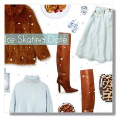 """Ice Skating"" by peony-and-python ❤ liked on Polyvore featuring Vetements, Frame, Diane Von Furstenberg and Burberry"