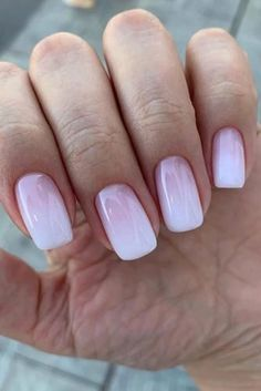 The Best Wedding Nails 2020 Trends ★ wedding nails 2019 pink and white light gradient nail_art_store Pink Nails, Gel Nails, Nail Polish, Gradient Nails, Bride Nails, Wedding Nails, Nagellack Design, Nails Design With Rhinestones, Classic Nails