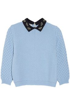 How much we want this Miu Miu jewel-collared wool sweater