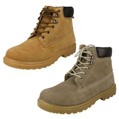 MENS MAVERICK LACE UP ANKLE BOOTS IN HONEY OR TAUPE - STYLE - A3022