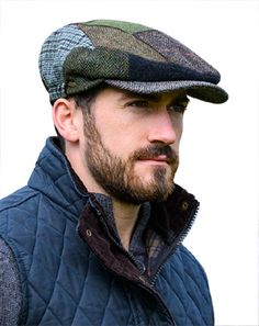 Green Tweed Patch Cap Keep warm in Celtic style with a Green Tweed Patch Cap.  Authentic wool tweed hat from Ireland. 761e34ce94a6