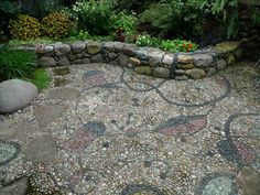 Jeffrey Bale's World of Gardens: Pebble Mosaic for the Garden -Cyphers and Constellations in love with a woman, inspired by the painting by Joan Miro-