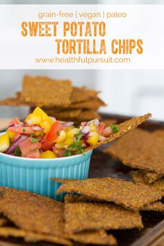Sweet Potato Tortilla Chips #glutenfree #grainfree #paleo